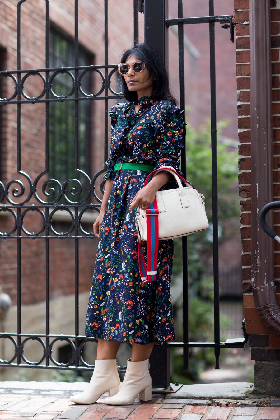 fall fashion, mididress, european style, edgy, afforable style, petite style, petite blogger, h&m, banana republic, marc jacobs, style tips