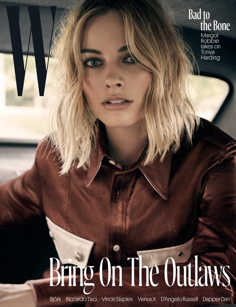 Margot Robbie Poses in Cool Styles for W Magazine