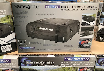 Samsonite Rooftop Cargo Carrier - No need for expensive rooftop cargo boxes
