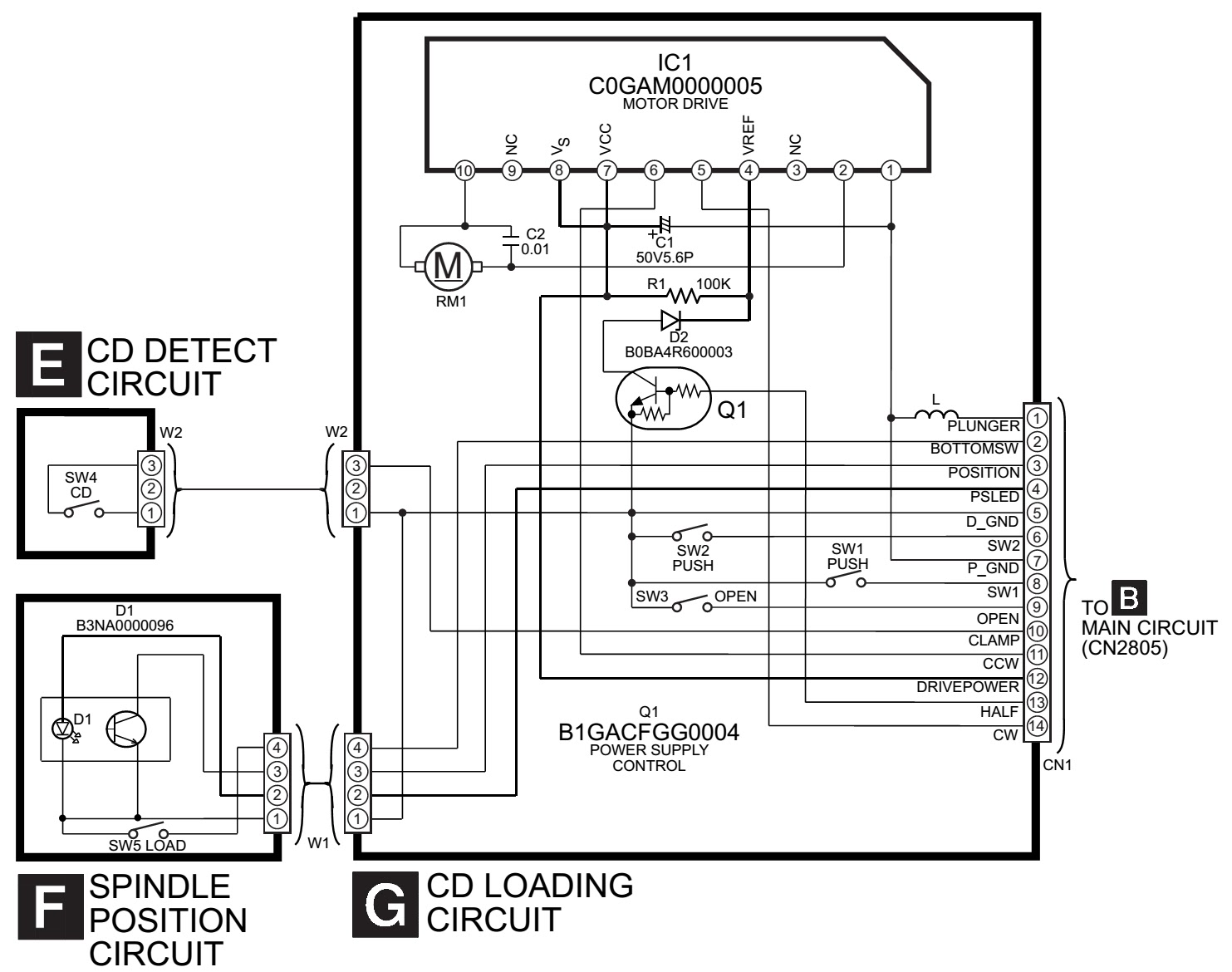 schematic diagrams  panasonic sa ak630 - schematic - power - amp