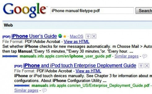 how to search google with filetype
