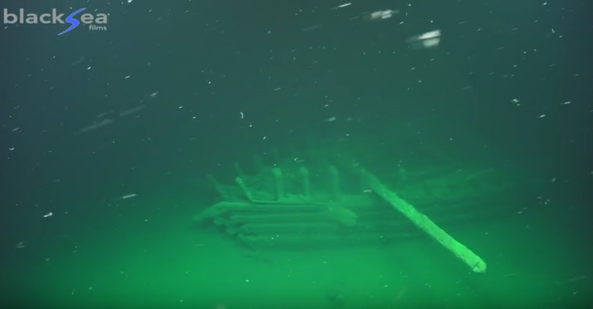 Imagen extraida del material de grabación del Black Sea MAP Maritime Archaeology Project