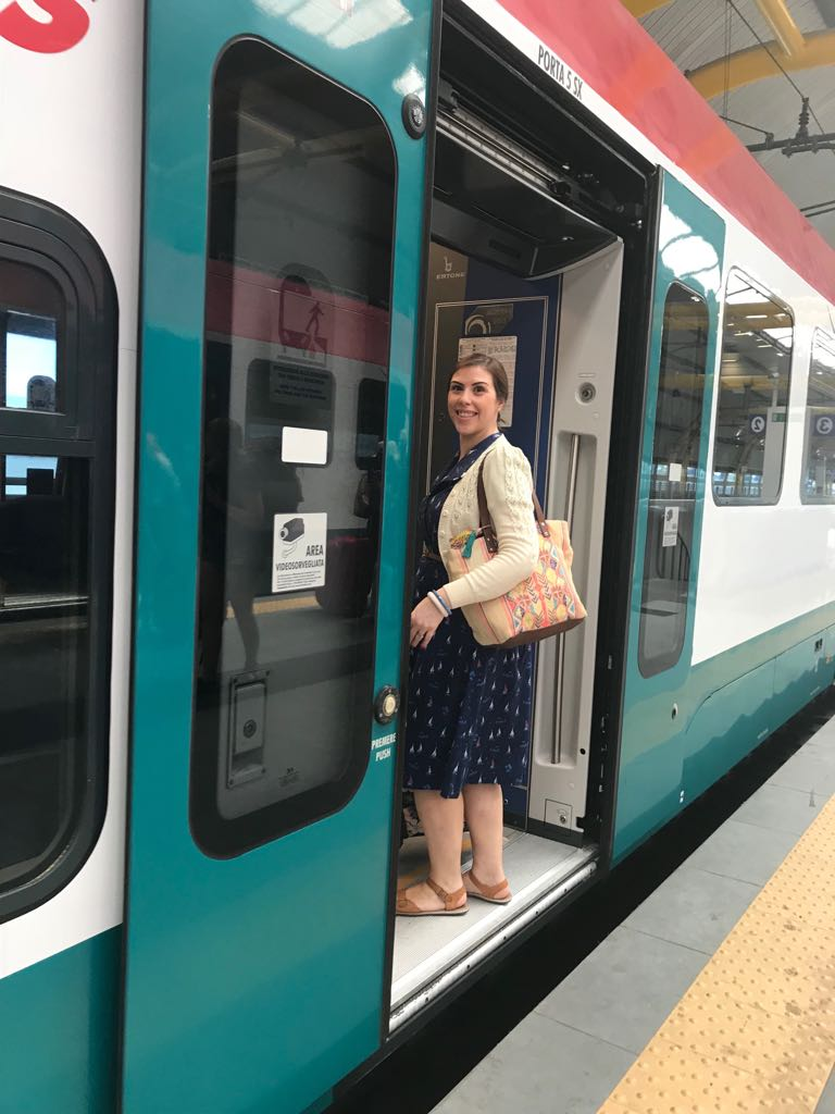 Boarding the train to Rome
