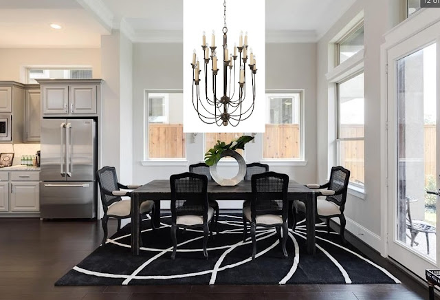 New Home Lighting Options-Candle Style Chandelier-French Country-Farmhouse-Traditional-Dining Room Lighting-From My Front Porch To Yours