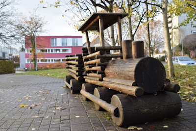 Small Kid's train made of wood