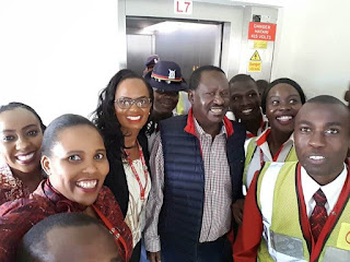 Raila Odinga arrival from US. PHOTO | FILE