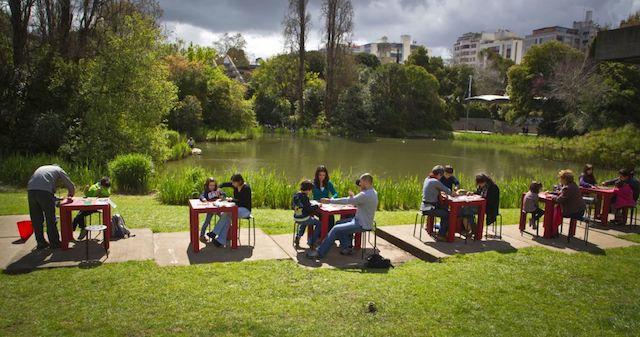 Atividades no Jardim da Fundação Calouste