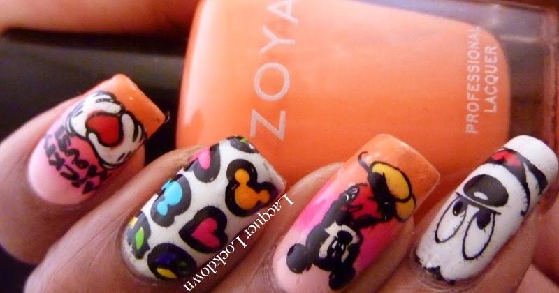 Lacquer Lockdown Neon Mickey Mouse Myonline Shop Nail Art