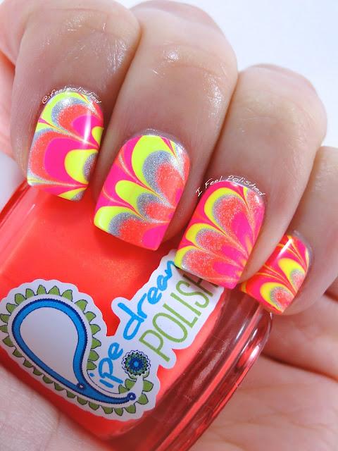 Neon Flower Water Marble