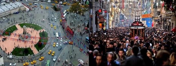 Taksim Meydanı İstiklal Caddesi