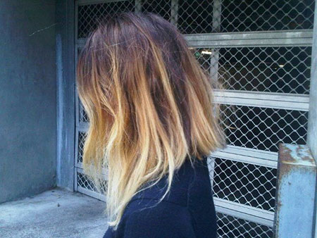 very short ombre hair
