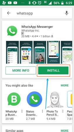play store se whatsapp download kare