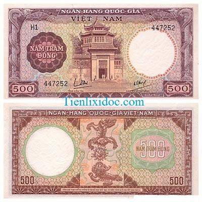 500 đồng việt nam cộng hòa 1964