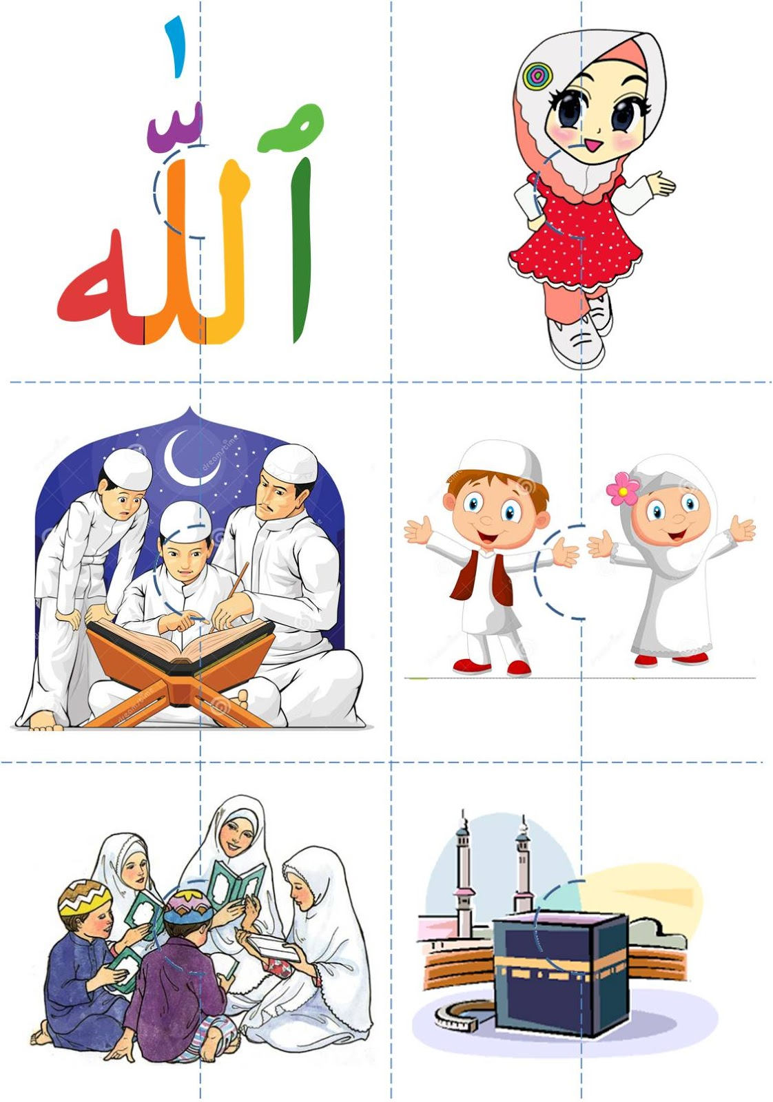 Free D I Y Islamic Puzzles Template Percuma Islamic