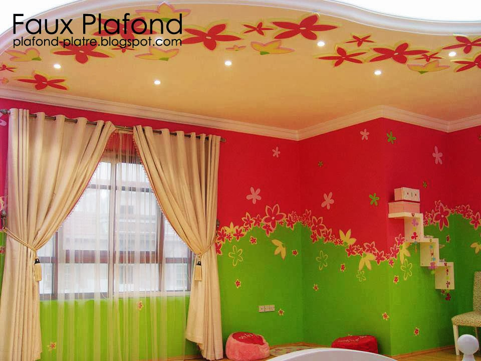 faux plafond top modeles de faux plafond pour chambres enfants. Black Bedroom Furniture Sets. Home Design Ideas