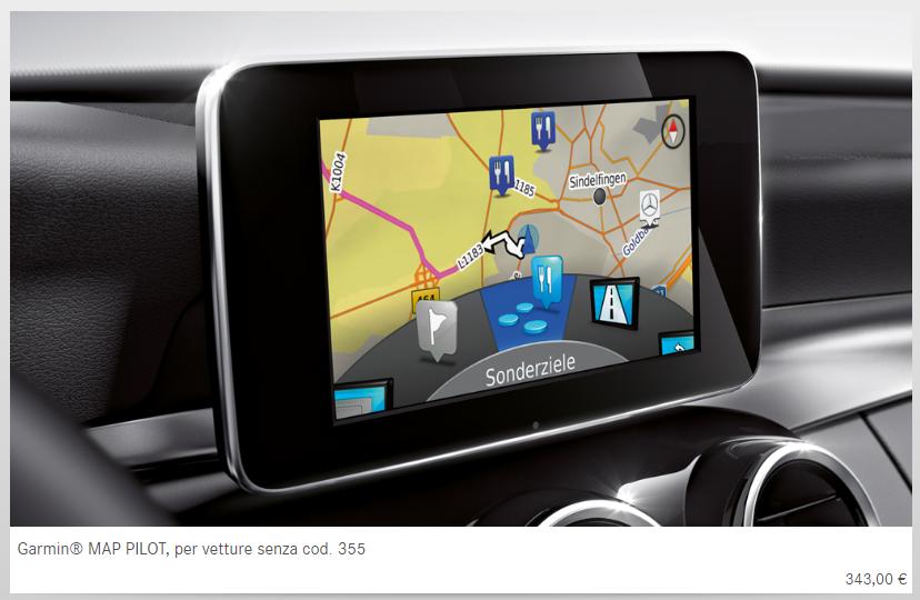 mercedes glc coupè accessori originali navigatore display schermo