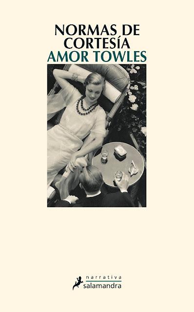 Portada del libro Normas de cortesía de Amor Towles
