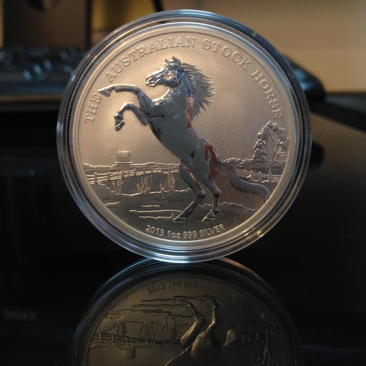 The Australian Stock Horse 2014 1oz Silver Coin To Be