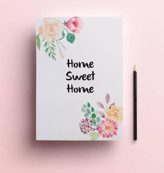 Lamina flores gratuita home sweet home