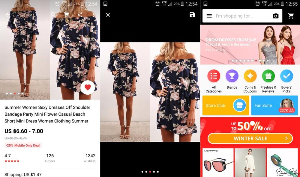szukanie obrazem w aplikacji mobilnej AliExpess