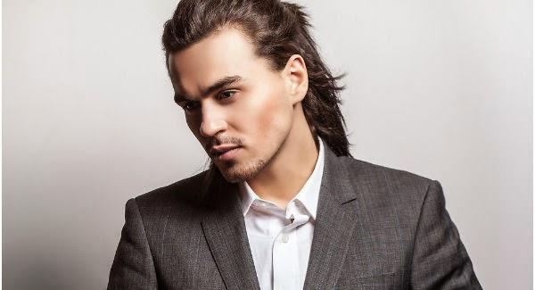 cara rambut panjang pria
