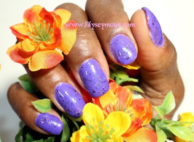 Nails ~ Purple Gel Polish with Gelish Glitter Top Coat