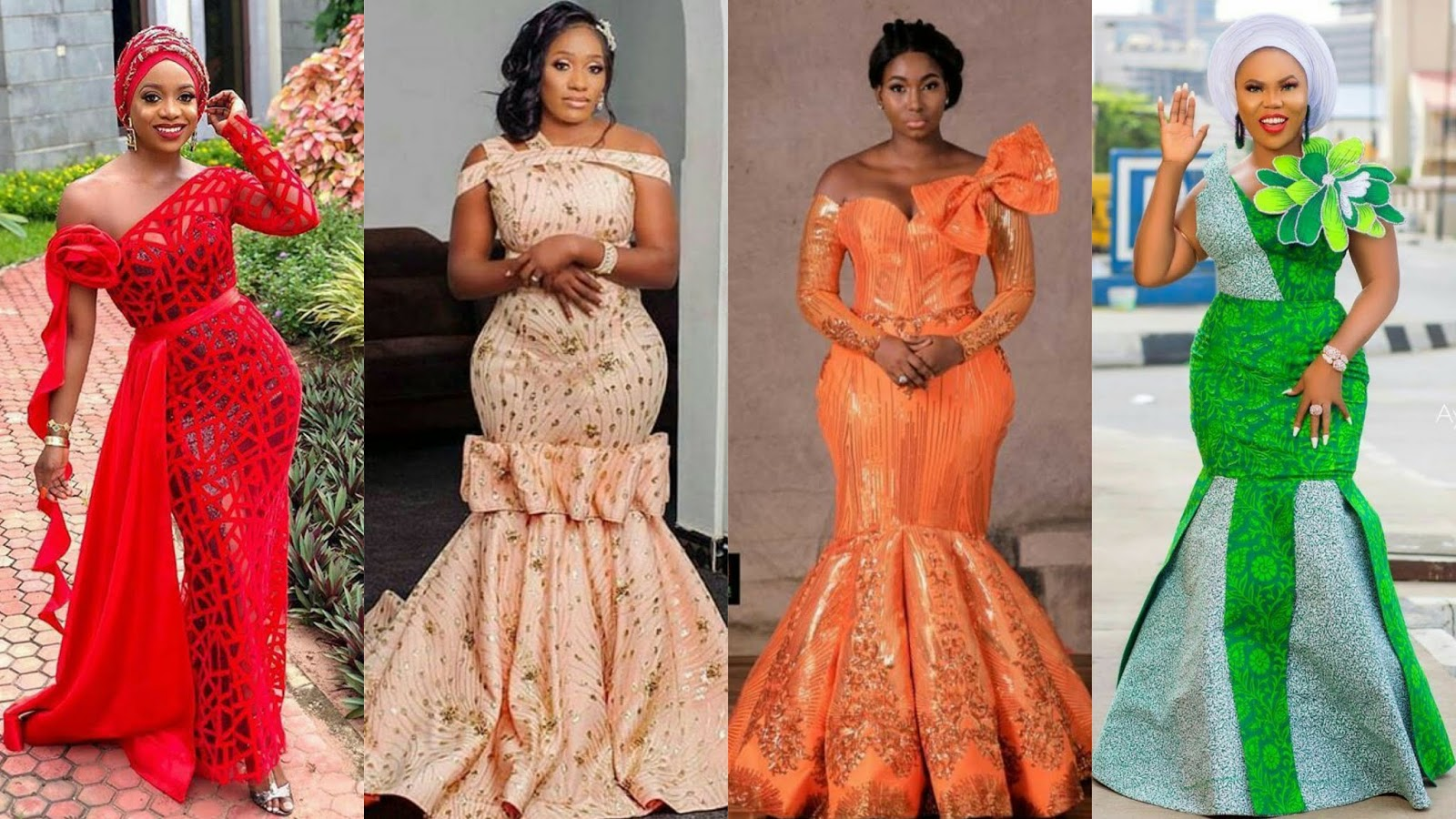 3c53d29495d These are the most stylish and beautiful native African lace or Aso Ebi  styles for traditional weddings .