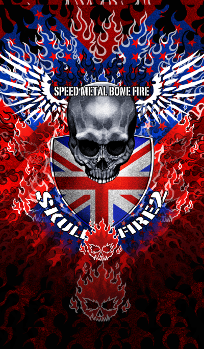 Speed Metal Bone Fire Skull Fire 2