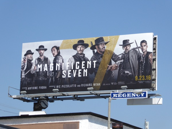 Magnificent Seven movie remake billboard
