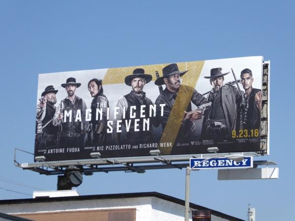 Magnificent Seven movie remake billboard