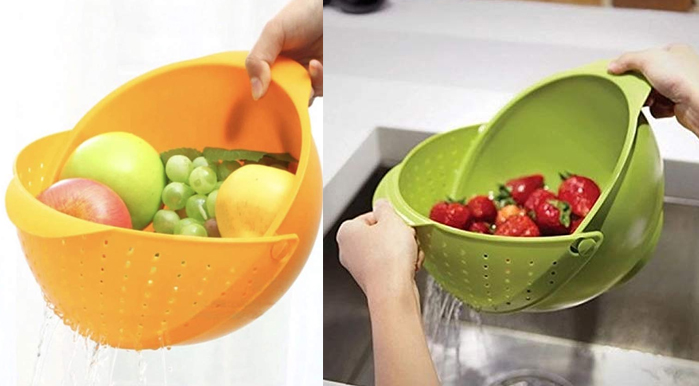 Toxham Innovative Rinse Bowl and Strainer