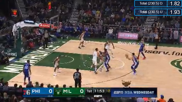 Live Streaming List: Philadelphia 76ers vs Milwaukee Bucks 2018-2019 NBA Season