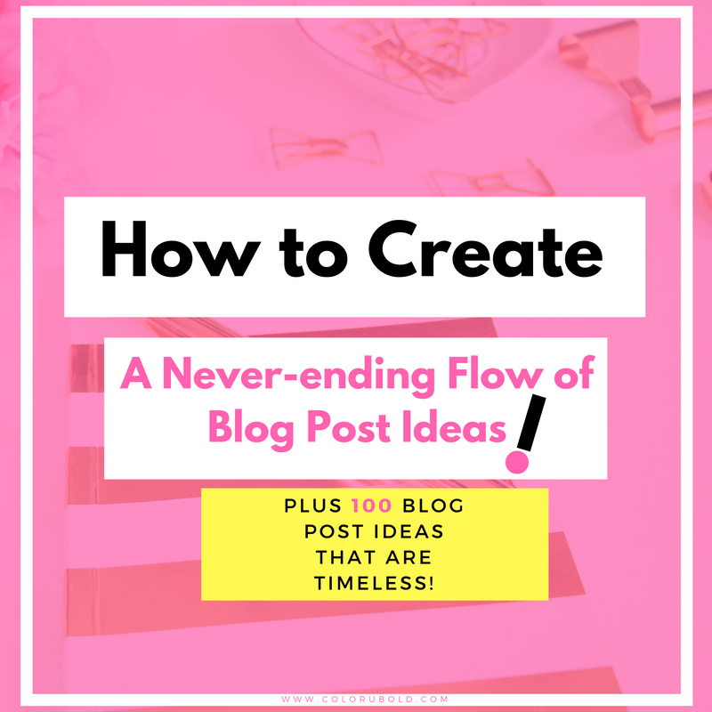 How to create a lot of blog post ideas  to never have writer's block again! Here are 10 ways to always have blog post ideas.
