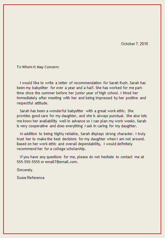personal recommendation letter pdf
