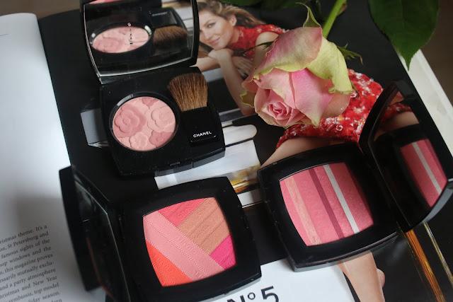 Jardin de Chanel Blush Camelia Rose, Blush Horizon de Chanel, Sunkiss Ribbon