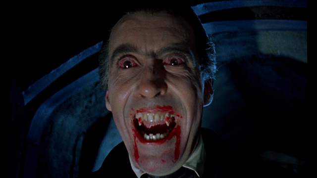 Dracula giving us a nice, bloody grin