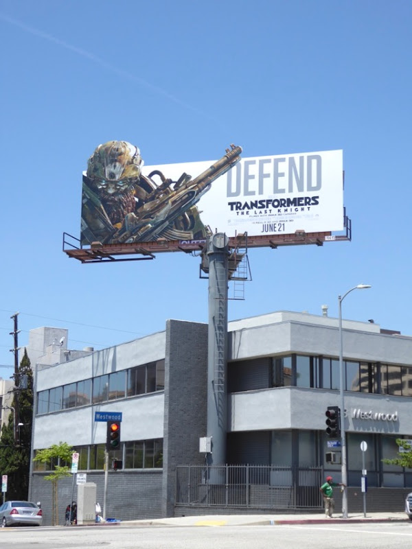 Transformers Last Knight Defend billboard