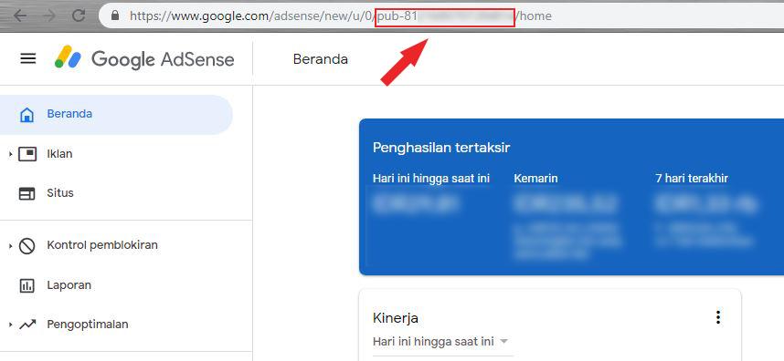 cara mendapatkan kode ID Publisher Akun Adsense