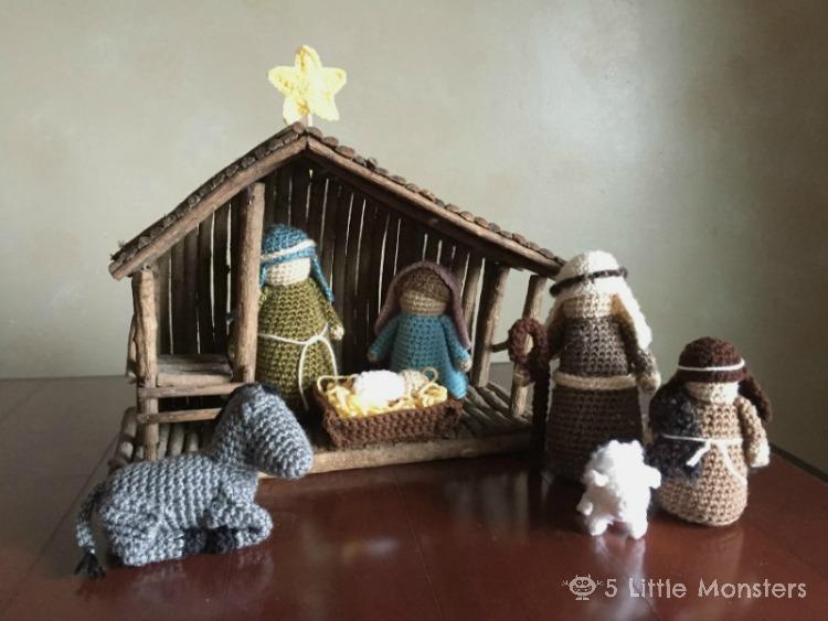 5 Little Monsters Crocheted Nativity Set
