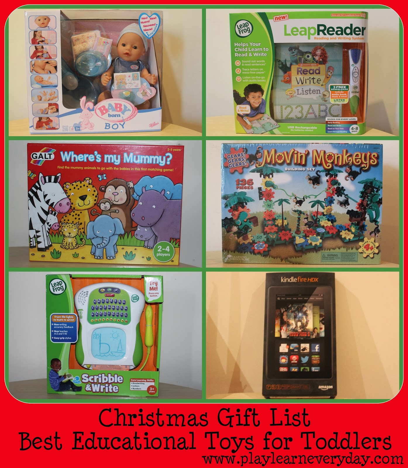 Christmas Gift List - Best Educational Toys for Toddlers ...
