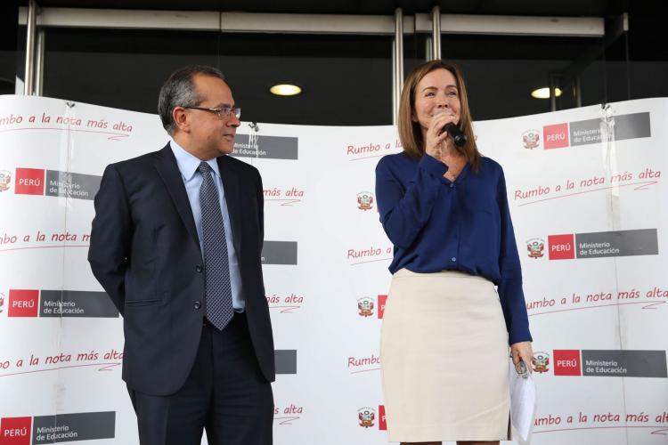 Ministra Marilú Martens Cortés pide redoblar esfuerzos para lograr educación de excelencia - MINEDU - www.minedu.gob.pe