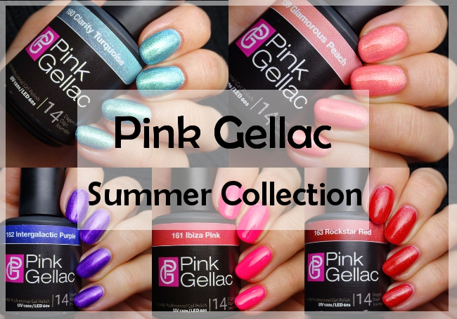 Pink Gellac Summer Collection Gel Polish Swatches