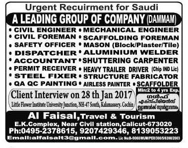 Jobs in Kingdom of Saudi Arabia