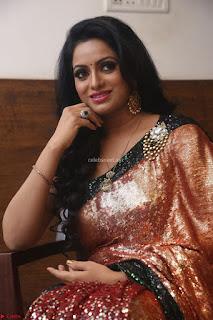 Udaya Bhanu lookssizzling in a Saree Choli at Gautam Nanda music launchi ~ Exclusive Celebrities Galleries 030.JPG