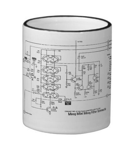 Moog Filter Schematic Diagram Coffee Mugs