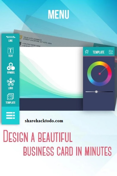 Hacktodo business cards makers on android smartphones business cards makers colourmoves