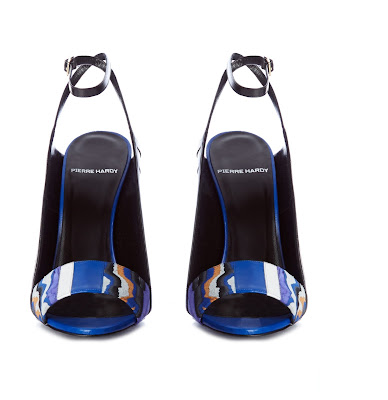 pierre hardy vibration marble effect suede sandals in royal blue