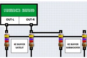 Speaker Aktif 2 1 satelit TDA2030 sub woofer TDA2050 | guruKATRO