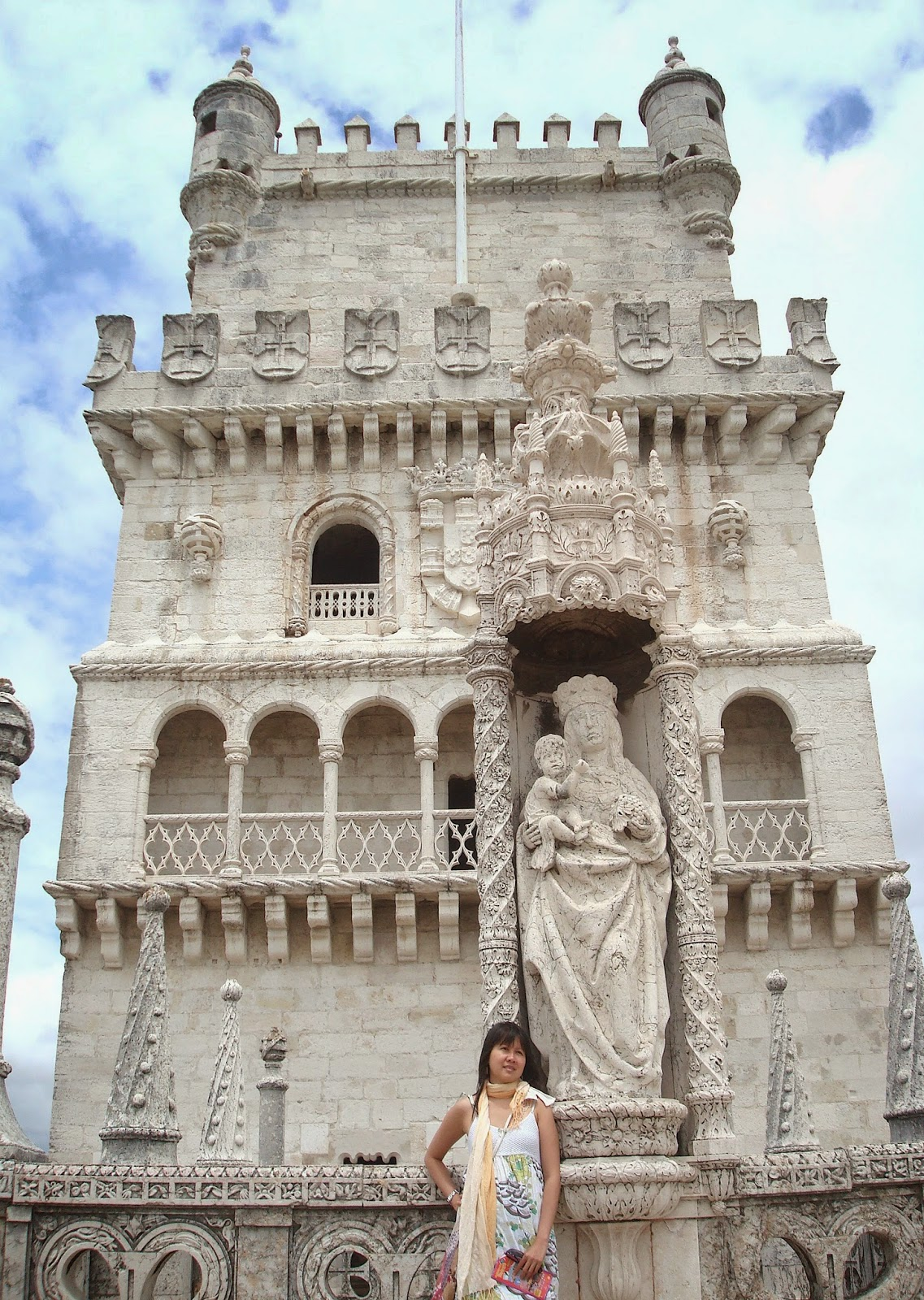 Statue of St. Mary and Child, Belem Tower, Lisbon