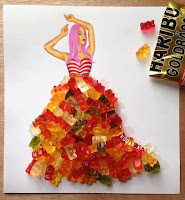 Arte con collage de comida - gomitas
